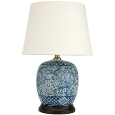 "Oriental Furniture Classic 20"" H Table Lamp with Empire Shade"