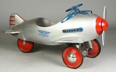 Antique+Pedal+Cars | Vintage Airplane Pedal Car