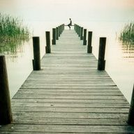 Image detail for -decor sitting dock green water lake solo perspective shabby chic ...
