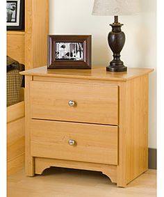 Montego Maple 2-drawer Nightstand | Overstock™ Shopping - Great Deals on Nightstands