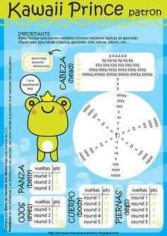 Kawaii Prince -Frog - Free English and Spanish Pattern