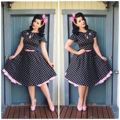 My Week In Outfits! - Miss Victory Violet 1950s Outfits, Retro Outfits, Vintage Outfits, Cute Outfits, Rockabilly Fashion, Retro Fashion, Vintage Fashion, Vestidos Vintage, Vintage Dresses