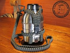 39.5 oz Stainless Steel Canteen with Paracord case from the Canteen Shop