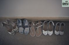 All the shoes. Weddings at The Johnstown Estate, photographed by Couple Photography.