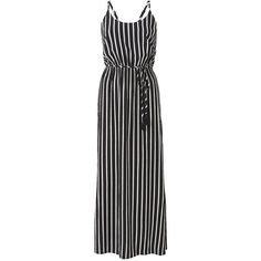 Witchery Stripe Resort Maxi Dress ($99) ❤ liked on Polyvore featuring dresses, summer cocktail dresses, beach dresses, cocktail maxi dresses, rayon maxi dress and evening dresses