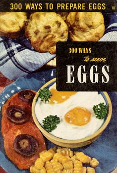 """Vintage 1950s Cookbook Culinary Arts Institute """"300 Ways to Serve EGGS"""" Recipe Booklet"""