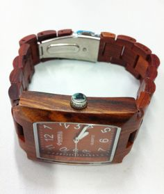 Wood Watch For Women or Men Sandal Wooden Watch Wrist Bracelet Quartz Vintage Watch With Square Dial Gift(W01012) on Etsy, $54.99