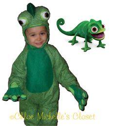 Tangled Pascal costume  green chameleon by ChloeMichellesCloset