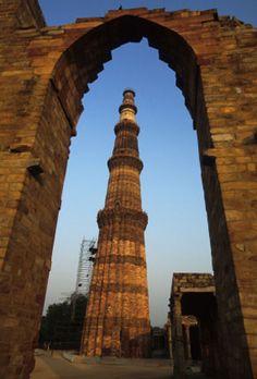 the Qutb Minar, Delhi, India.