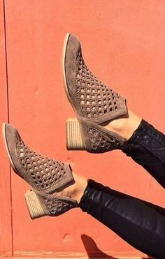 Spring Shoe Trends: Perforation Pumps, Stilettos, Bootie Boots, Shoe Boots, Fall Booties, Suede Booties, Ankle Boots, Cute Shoes, Me Too Shoes