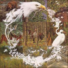 Image detail for -LRS Art Medley] Bev Doolittle, Sacred Circle; DISPLAY FULL IMAGE.