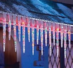 Multi-Colors Icicle String Lights Christmas Outdoor Decor | eBay
