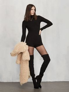 Pants included, kind of. The Ervilla Bodysuit reminds us of something Brigitte Bardot would run around in in the 60s. https://www.thereformation.com/products/ervilla-bodysuit-black?utm_source=pinterest&utm_medium=organic&utm_campaign=PinterestOwnedPins