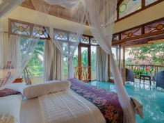 3 BR Bali House in Indonesia, Stunningly Colorful, Spacious, Artistic Bali House (bedroom floor!)
