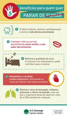 5 benefícios para parar de fumar