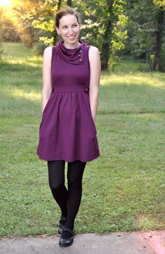 Coach Tour A-Line Dress in Violet #purple #fall #mostloved
