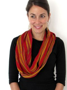 Circle scarf handwoven from Chiapas, Mexico