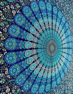 Chambre hippie mur mandala imprimer boho coussin home for Decoration murale hipster