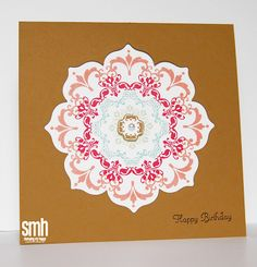 """In Color Stampin' Up Daydream Medallions: Expanding """"The Box"""" 5-1/2"""" square card #stampinup #daydreammedallions #birthday #card"""