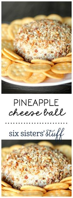 This Pineapple Cheese Ball from SixSistersStuff.com is so delicious and perfect for parties!