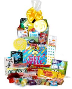 "Get Well Retro Candy Basket - Could include Dots and say ""Hope you get rid of your Dots soon"" for chicken pox, or ""at least you don't have Dots on your face"", etc Candy Gift Baskets, Candy Gifts, Candy Cards, Gourmet Gifts, Food Gifts, Retro Christmas, Christmas Gifts, Birthday Celebration, Birthday Gifts"
