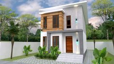 Small Home design Plan with 3 Bedroom - SamPhoas Plan Duplex House Design, Simple House Design, Garage Apartment Floor Plans, Porch Steps, A Frame Cabin, Tiny House Plans, Cabin Plans, Home Design Plans, Bad