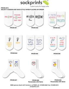 Promposal Socks Prom Date Homecoming Ask To Prom Idea