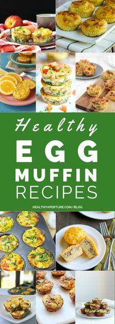 These healthy Egg Muffin Recipes can be made ahead of time and enjoyed for breakfast all week!