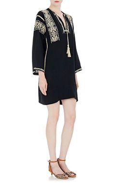 Embroidered Gauze Vinny Tunic Dress