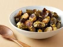 http://www.foodnetwork.com/recipes/ina-garten/roasted-brussels-sprouts-recipe2-1941953