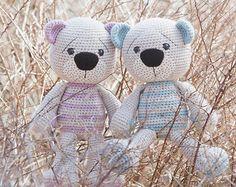 PATTERN - Tummy Teddy (crochet, amigurumi)