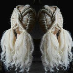 Fishtail braided girly style.. #girlsbraids #fishtailbraids