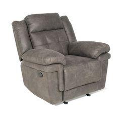 Red Barrel Studio Rancourt Manual Lift Assist Recliner Upholstery: Grey
