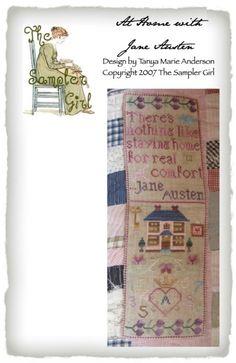 Jane Austen inspired patterns #thesamplergirl #needlework #crossstitch #knitting #janeausten