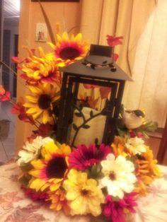 Colorful lantern centerpiece
