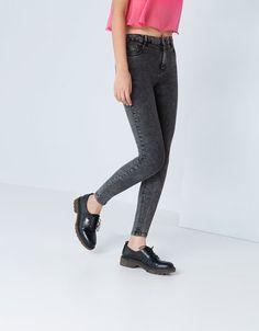 Bershka Turkey -Bershka high waist skinny jeans
