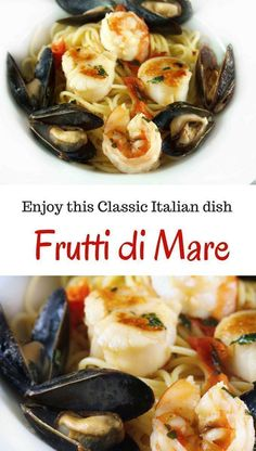 A classic Italian seafood dish that's perfect for dinner. By Ask Chef Dennis How to make a Classic Frutti de Mare - Chef Dennis A Culinary Journey with Chef Dennis askchefdennis Tasty Creatio Lobster Recipes, Fish Recipes, Seafood Recipes, Pasta Recipes, Cooking Recipes, Linguine Recipes, Recipies, Dinner Recipes, Cooking Time