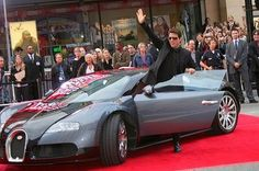Tom Cruise in this amazing Bugatti!
