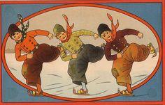 winter 1920   Rie Cramer, Dutch children's book illustrator