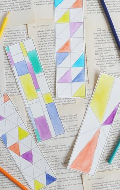 Free printable coloring bookmarks from Alice + Lois | back to school printables