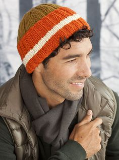 Ravelry: #35 Man's Ribbed Hat pattern by Carla Scott