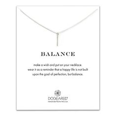 Dogeared Balance Vertical Balance Bar Necklace Sterling Silver 16 * Read more  at the image link.