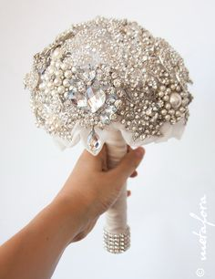 Hey, I found this really awesome Etsy listing at http://www.etsy.com/listing/150897780/diamante-brooch-bouquet-bridal-bouquet
