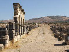 The Tingis Gate, looking back down the Decumanus Maximus
