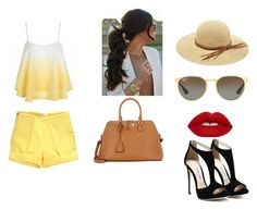 """""""Sin título #18"""" by nahitos-pazmino on Polyvore featuring moda, Maison Margiela, Ray-Ban y LULUS"""