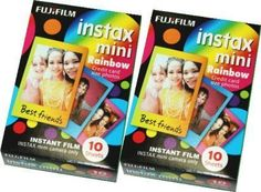 Fujifilm Instax Mini Instant Rainbow Film, 10 Sheets, 2 Value Set