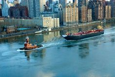 Urban Landscape Photography: East River Tugboat   Deborah Julian Art   Fine Art Prints from $20