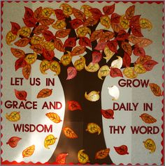 Fall religious bulletin board