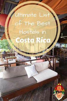 list of best hostels in Costa Rica