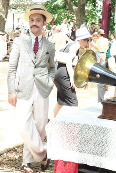 Look at this guy! Well done. Dressing for the Prohibition Era at the Jazz Age Lawn Party. Photo by Kyle Ericksen